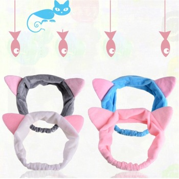 1 Pcs Multicolor Cute Hairband Band Hair Cat Ears Head Lovely Hair Band Wash Face Girls Band Hair Accessories Cn(origin) image