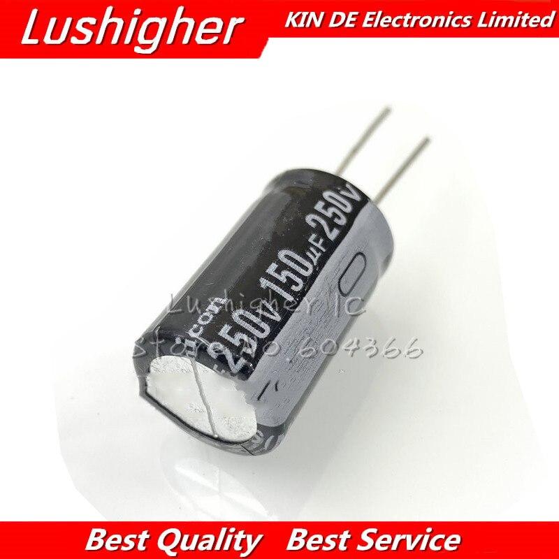 5 uds 250V150UF DIP 150UF250V 18X25MM 250v 150uf 18*25 Electro condensador electrolítico