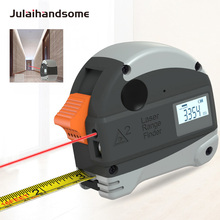 2 in 1 Laser Range Tape Measure Millimeter Precision Measurement 5m&30m