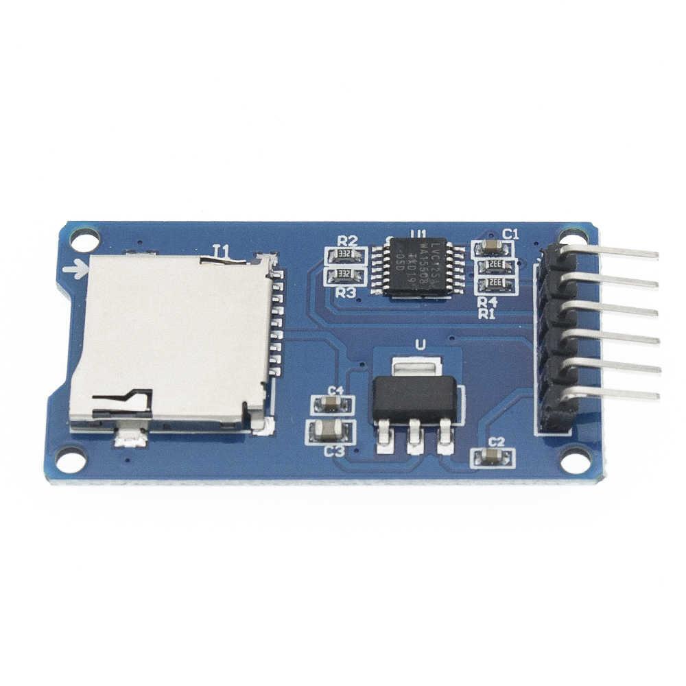 1 pces micro cartão sd mini módulo leitor de cartão tf spi interfaces com conversor de nível chip para arduino