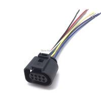 1j0973714 para seat audi vw skoda vag 8 pinos conector plug com fio cabo para sensor de estacionamento traseiro 1j0 973 714 Medidor de fluxo de ar     -