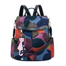 Women Backpack Fashion Oxford Anti-theft High Quality Waterproof Lady Large Capacity school zipper Backpack Women bag pack 2019
