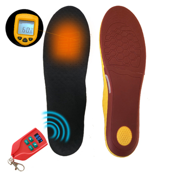 2000mAh Battery Rechargeable Heated Insoles w/ LED Digital Remote Control  Arch Support Heating Insoles For Skiing Cycling