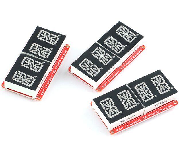 0.54 pouces LED affichage 4 bits 0.54 mètre Module de Tube numérique HT16K33 I2C IIC rouge/vert émeraude/Orange Module daffichage pour Arduino