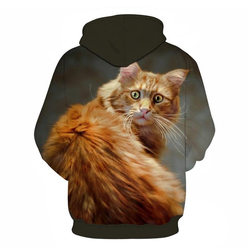 Women's Two Cat Sweatshirts Long Sleeve 3D Hoodies Sweatshirt Pullover Tops Blouse Pullover Hoodie Poleron mujer Confidante Tops 80
