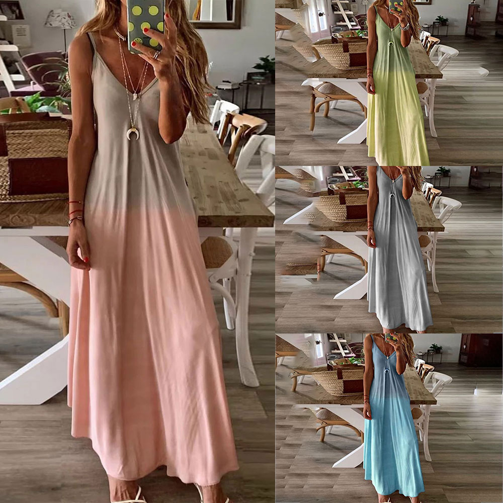 Casual <font><b>Vintage</b></font> Sundress Women Summer <font><b>Dress</b></font> 2019 Boho <font><b>Sexy</b></font> <font><b>Dress</b></font> Midi Button Backless Polka Dot Striped Floral Beach <font><b>Dress</b></font> Female image