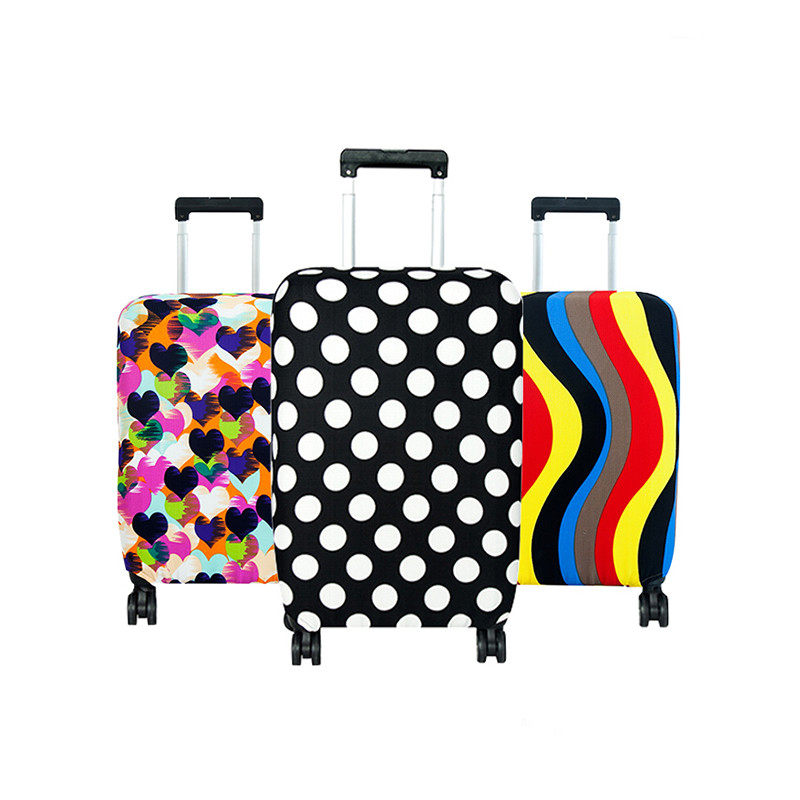 PLEEGA Thick Elastic Geometric Luggage Protective Cover Fashion Men's Women's Case Suitcase Trolley Baggage Travel Bag Cover