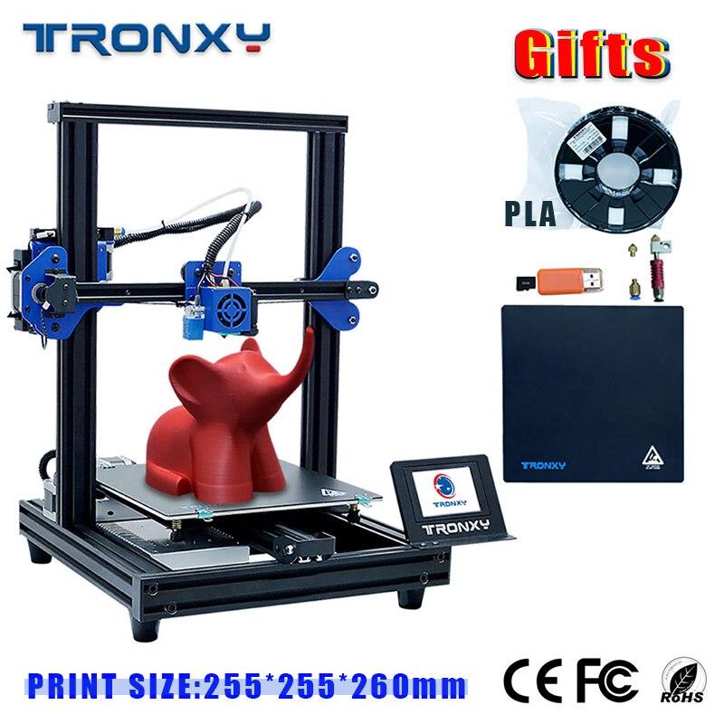 2019 tronxy XY-2 pro kit de impressora 3d montagem rápida 255*255*260mm suporte auto nivelamento currículo filamento impressão correr para fora detecção