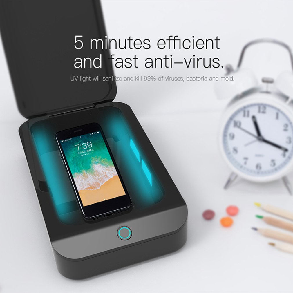 Smart Phone Sanitizer Portable Uv Lights Cell Phone Sanitizer Cleaner Aromatherapy Function Disinfector For All Cellphone