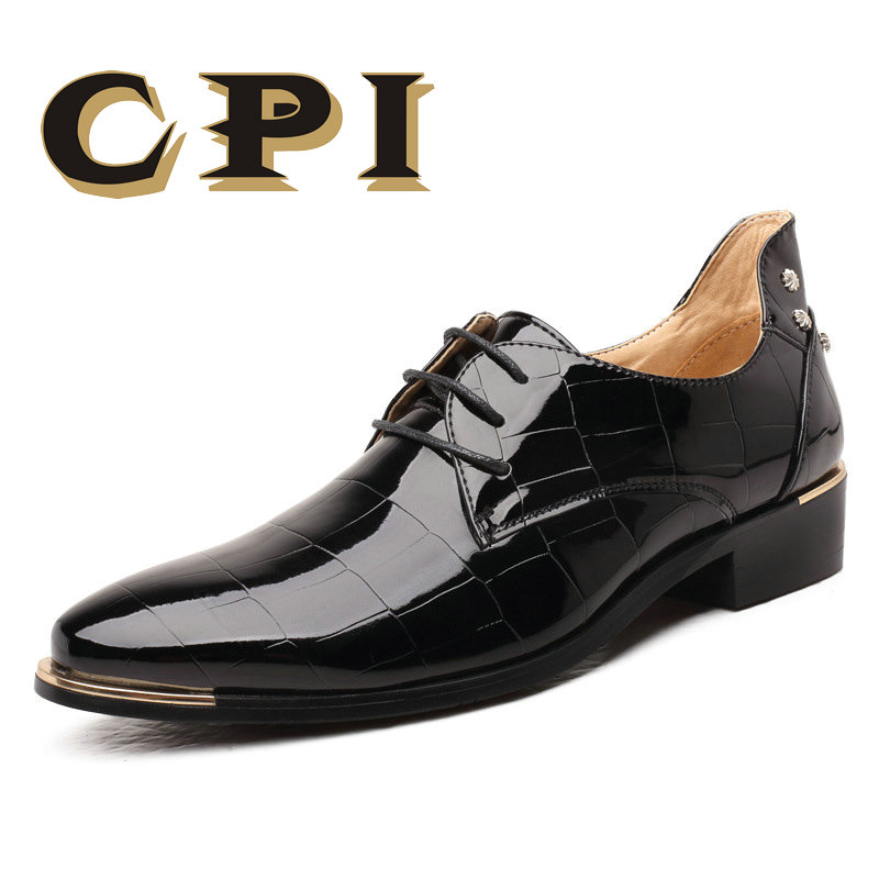 CPI Men Shoes Business Lace-Up PU XP-34 Flats High-Quality New-Fashion