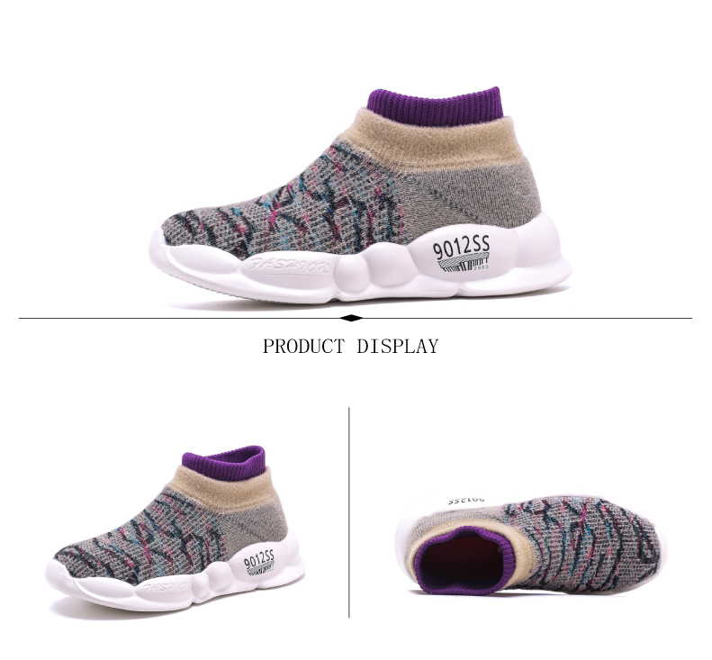PINSEN 2019 Spring Autumn Children Sneakers Girls Shoes Fashion Kids Shoes Mesh Breathable Child Socks Shoes Boys Casual Shoes (8)