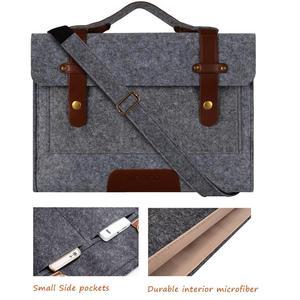 Image 5 - Mosiso 13 13.3 15 15.6Inch Voelde Laptop Sleeve Tas Voor Macbook Air Pro 16 Inch A214 Notebook Aktetas Messenger schoudertassen
