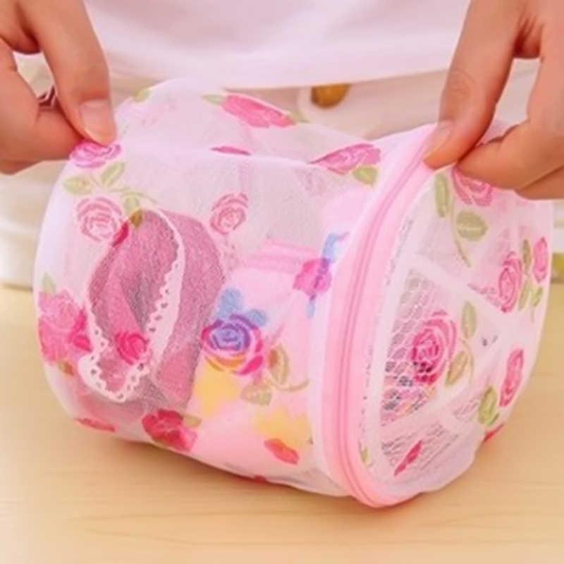 Folding Bh Dessous Wäsche Lagerung Waschen Taschen Haushalt Kleidung Waschen Net Korb Mesh Tasche Reißverschluss Waschen Hamper Bag Organizer