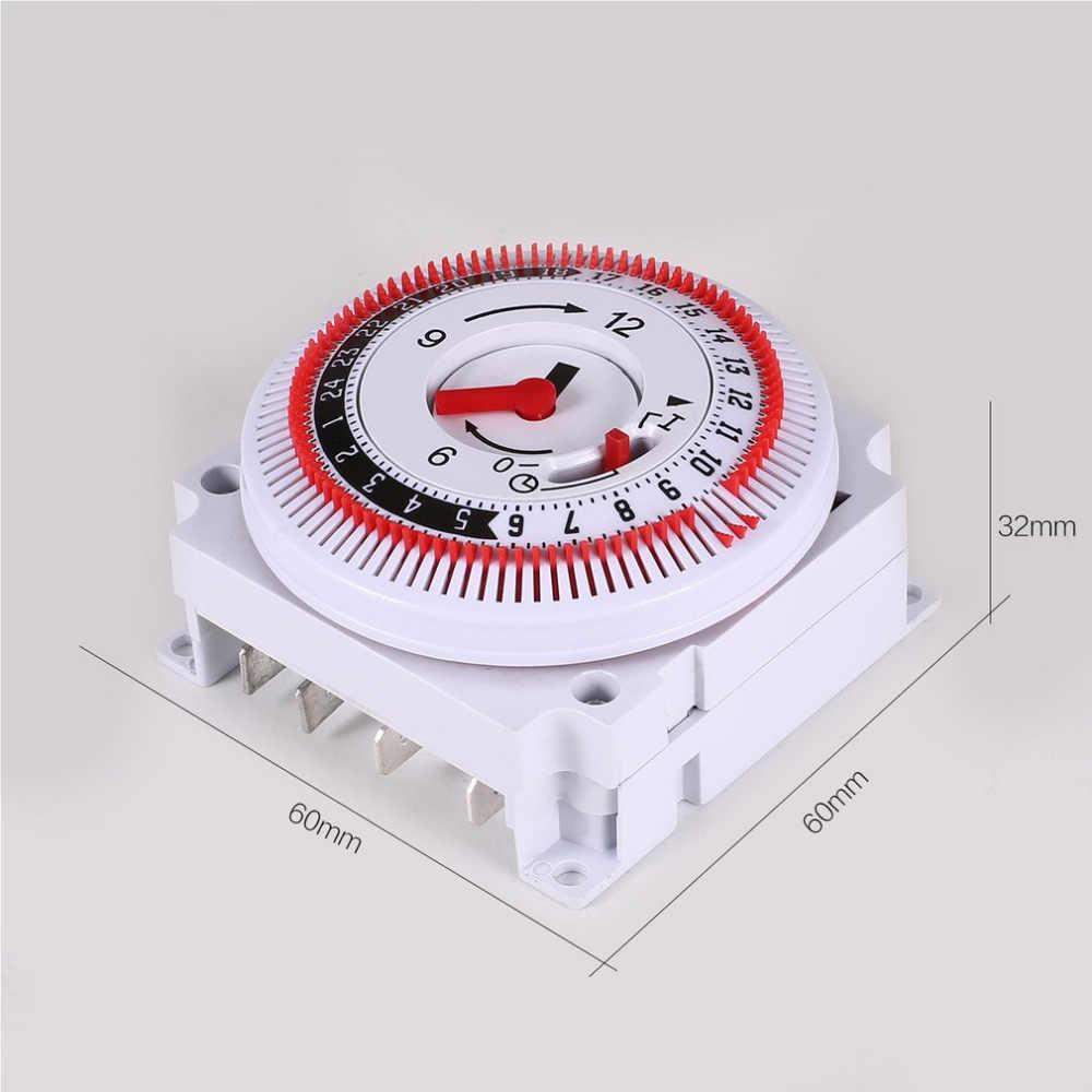 Minuterie mécanique 250V rappel de compteur de temps 15min 24h cuisine compte à rebours contrôleur d'économie d'énergie commutateur de synchronisation industriel