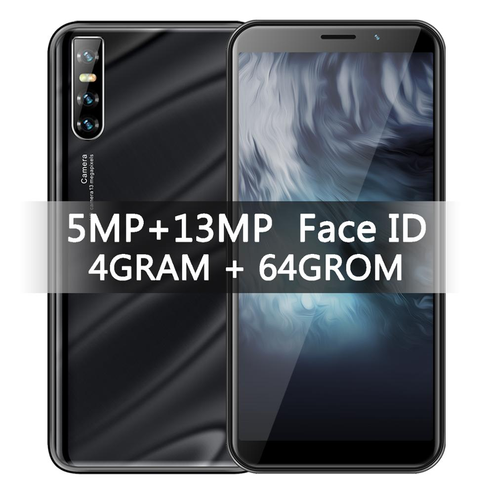 "9X Quad Core 4G RAM 64G ROM Smartphones Gesicht ID 6.0 ""Bildschirm 2MP + 8MP Setzte handys 2SIM MTK Celulares Android Telefon"