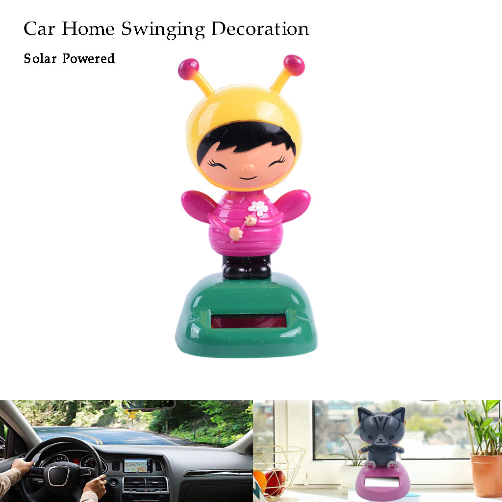 Solar Animated Figures 10.5X6X5.8cm, Monkey Cute Girls Doll Dashboard Ornament Solar Powered Dancing Swinging Toys for Car Windowsill Home Decor,Buy It More More