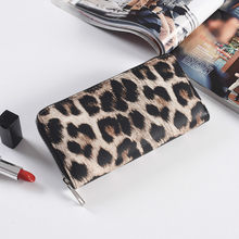 2019 New Fashion Women Wallet Small Cute Long Pu Leather Girl Wallets Zipper Purses Leopard Animal Print Card Holder Zip Around(China)