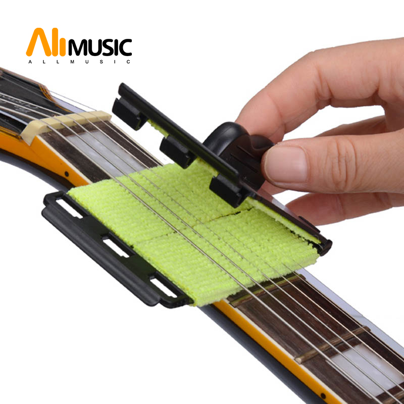 Electric Guitar Bass Strings Scrubber Fingerboard Rub Cleaning Tool Maintenance Care Bass Cleaner Guitar Accessorie