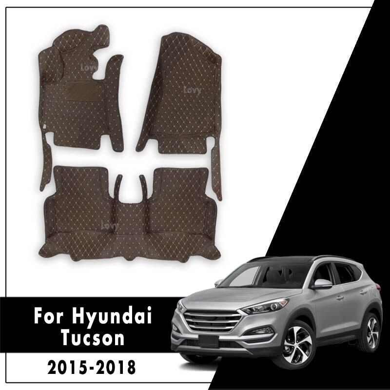 Автомобильные коврики для Hyundai Tucson 3rd 2015 2016 2017 2018 2019 водонепроницаемые противоскользящие передние и задние 3D ковры Авто интерьеры