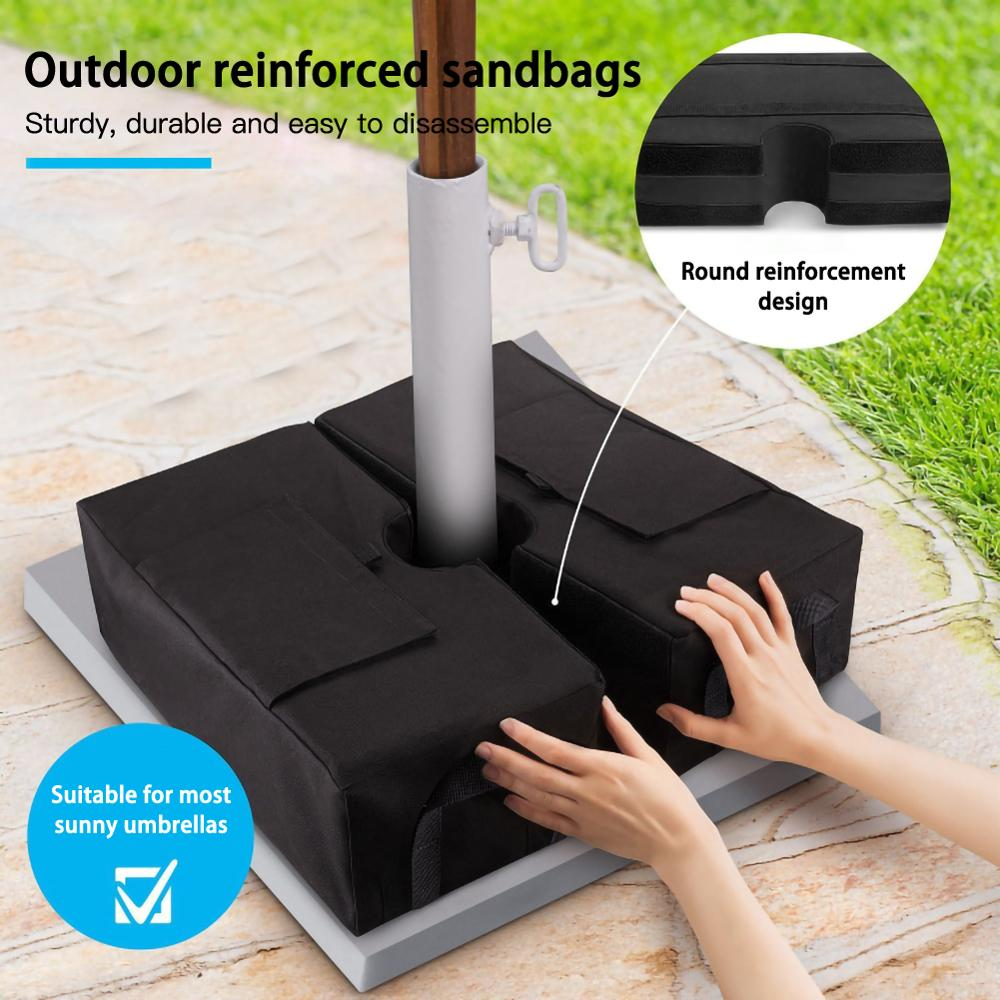 Outdoor Patio Umbrella Base Weight Bag Weatherproof Parasol Umbrella Heavy Duty Sand Bags Stand Base for Home Hotel Use