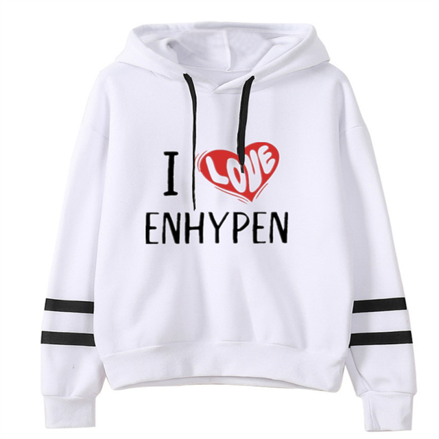 ENHYPEN THEMED STRIPED HOODIE (26 VARIAN)