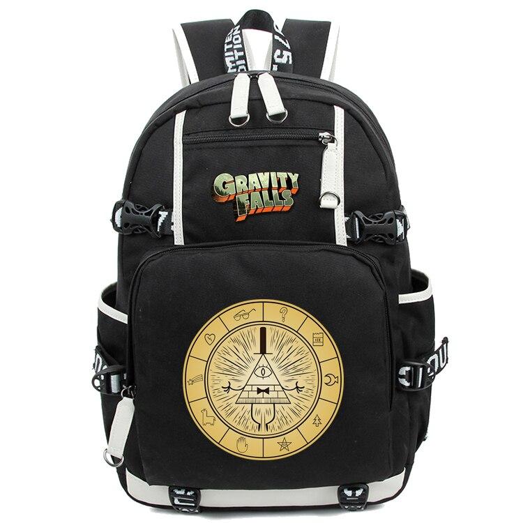 Аниме Гравитация Фолс USB порт рюкзак сумка печать назад школьная книга для девочек и мальчиков рюкзаки ноутбук сумки на плечо Косплей