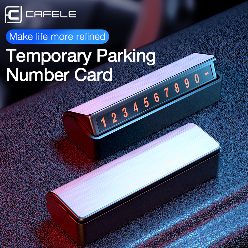 Car Temporary Parking Card Holder Magnetic Hide phone number plate car accessories auto led interior car accessories(China)