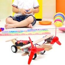 Технология «сделай сам» Детская научная Мода Обучающие экспериментные игрушки Электрический планер самолет классический интерактивный р...