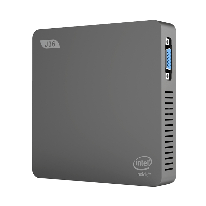 J36-V Mini PC Windows 10 Intel Celeron J3160 4GB+64GB 2.5 Inch HDD 2.4GHz/5.8GHz WiFi BT4.0 USB3.0 HDMI+VGA Mini Computer