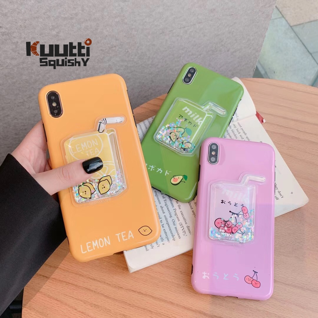 Kuutti Lovely Juice Bottle 3D <font><b>Kawaii</b></font> fruit <font><b>Phone</b></font> <font><b>Case</b></font> for <font><b>iPhone</b></font> 6 6s <font><b>7</b></font> 8 Plus X XR XS Max Covers for <font><b>iphone</b></font> xs max <font><b>case</b></font> luxury image