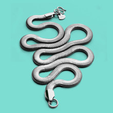 Italy Men's 925 Silver Necklace-Special Snake Chain 46-71cm-Sterling Silver Necklace Party Accessories-Fashion Men's Jewelry