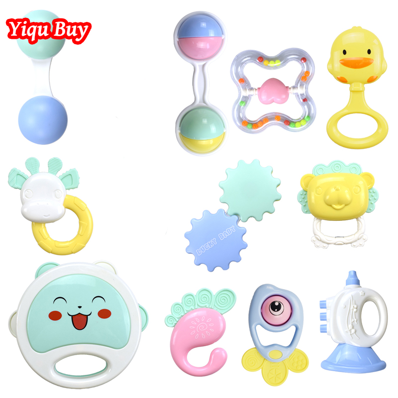 Funny Safety Silicone Rattle Baby Rattle Bed Bell Ring Molar Plastic Ring Teether Baby Educational Toys Newborn Toys 0-12 Months