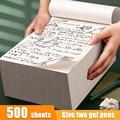 500 листов бумажных блокнотов для школьных принадлежностей, математическая книга для расчета, предназначенная для студентов, пустые книги д...