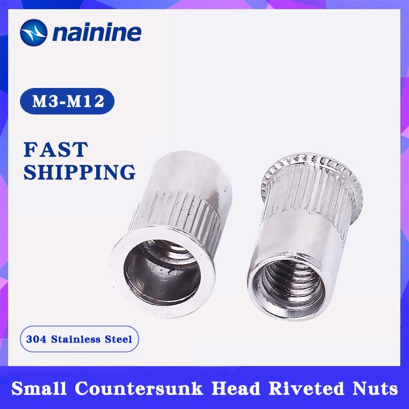 M5 5mm Alu Nut Serts Riveting Nuts Rivet Threaded Inserts Blindnut Rivnut 50pc