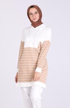 Minahill Maroon tunika 5327-04 tanie i dobre opinie Aplikacje Bluzki i koszule Octan Dla dorosłych