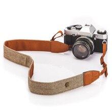 Винтажный ремень на плечо для камеры, хлопок, ремешок для камеры sony, Nikon, Canon, Olympus, DSLR, портативная камера
