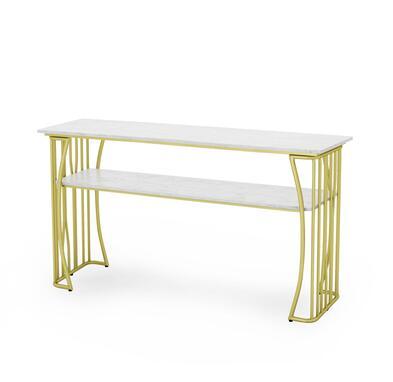Чистый красный мраморный Маникюрный Стол И Набор стульев, одиночный двойной золотой железный двухэтажный Маникюрный Стол, простой и роскошный светильник - Цвет: 160CM