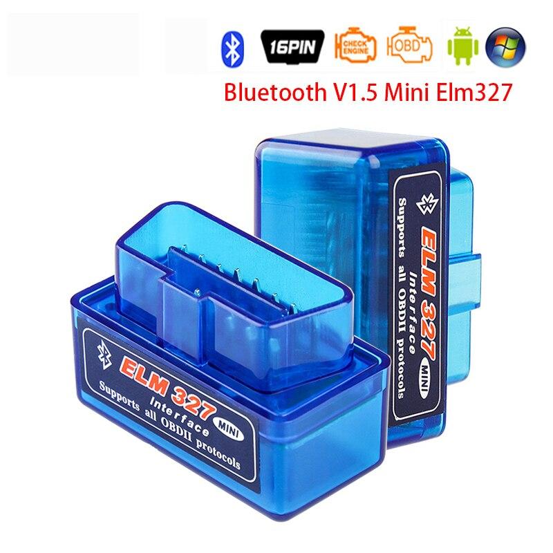 Новый сканер OBD2 ELM 327 v1.5 MINI PIC18F2480 ELM327 V1.5 Bluetooth диагностический адаптер сканирующий Инструмент OBD считыватель кодов для Android/ПК