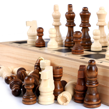 32pcs Wood Chess Pieces Big Size Wooden Complete Chessmen Set Entertainment Chess Board Game Non-Slip Flannelette Pieces 76MM