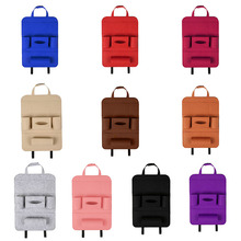 Multi-Pocket Car Seat Back Organizer Wool Felt Storage Container Hanging Box Multifunction Vehicle Storage Bag Car-styling multi pocket multifunction vehicle storage bag car seat back organizer storage container hanging box high quality