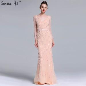 Image 5 - Serene Hill vestido de noche de sirena de manga larga, vestido azul marino de cristal hecho a mano, Sexy, elegante y lujoso, para fiesta, CLA6010, 2020