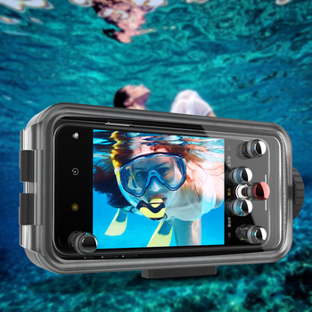 For Huawei Honor V30 V30Pro/ nava 5 Pro Waterproof Phone Case 60m Underwater Mobile Phone Protective Cover Bag Fashion New 1pc