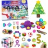 Fidget Toys 24 Days Christmas Advent Calendar Pack Anti Stress Toys Kit Stress Relief Figet Toy Blind Box Kids Christmas Gift