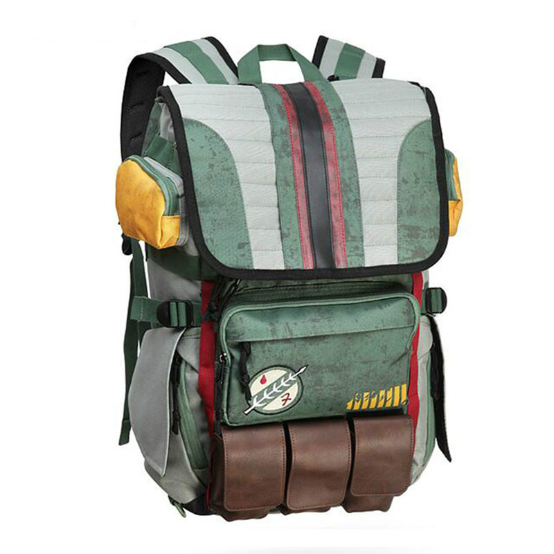 New Arrivals Zebella Star Wars Backpacks Yoda Boba Fett Laptop Men Vintage Travel Bags Games Movies Anime Male Bags NEW
