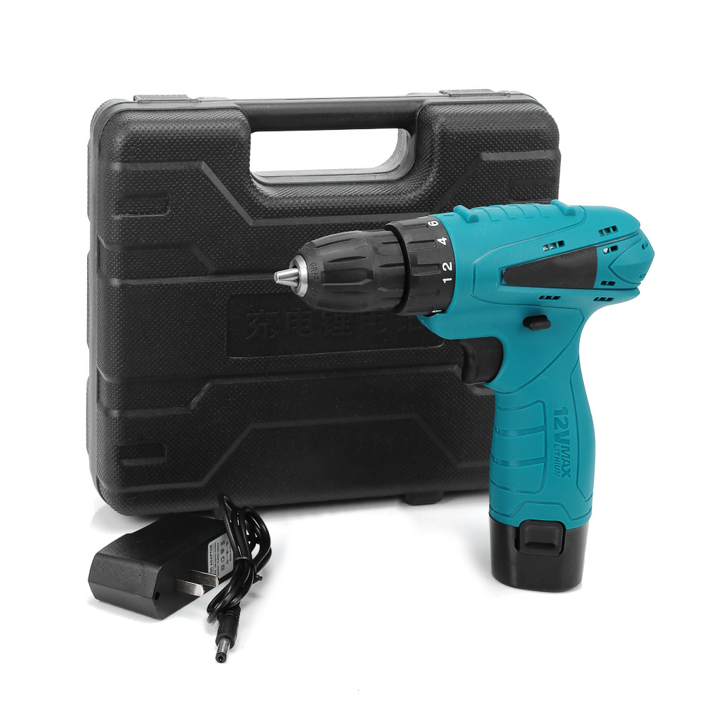 12V Electric Drill Cordless Screwdriver Set Electric Screwdriver Cordless Drill Mini Wireless Power Driver DC 2-Speed Power Tool image