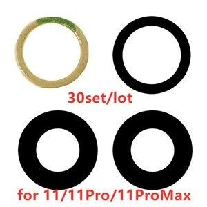 Image 1 - AliSunny 30set Terug Camera Glazen Lens voor iPhone 11 Pro 11Pro Max Achter Camera Cover 3M Sticker Houder onderdelen