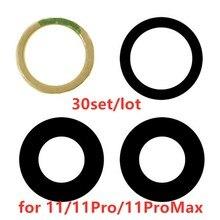 AliSunny lente de cristal de cámara trasera para iPhone 11 Pro 11Pro Max, cubierta de cámara trasera, soporte adhesivo 3M, 30 unidades