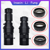 200X 500X 1000X Adjustable Magnification 0.7 5X Continuous Zoom C Mount Lens For HDMI VGA USB Industrial Video Microscope Camera