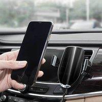 Novo 360 graus de rotação tomada ar do carro suporte super correndo inteligente psiquiatra telefone suporte preto aurora azul cinza