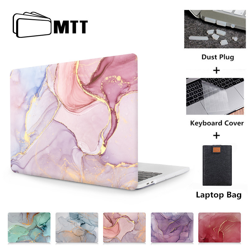 MTT Marble Texture Case For Macbook Air Pro Retina 11 12 13 15 Inch Laptop Sleeve For Mac Book 13.3'' With Touch Bar Hard Cover